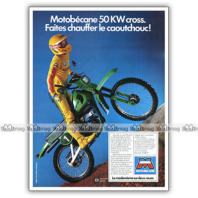PUB MOTOBECANE 50 KW CROSS 50KW KW50 - Moped Advert / Publicité Cyclo de 1983