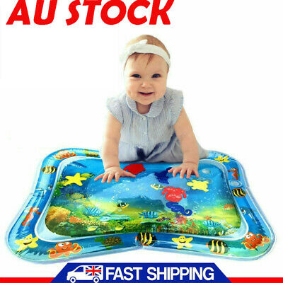 Inflatable Fun Water Play Mat for Kids Baby Children Infants Best Tummy Time 4c