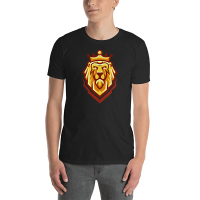 The Head of a Lion with a Royal Crown - King Strong Safari  Unisex T-Shirt