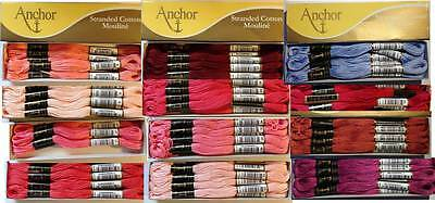 Two Skeins Anchor Stranded Mouline Embroidery Thread. Many Colours available