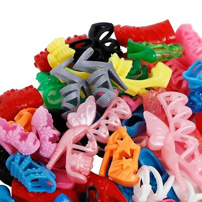 100Pairs=200Pcs Fashion Heels Sandals Shoes For 12 in. Doll Outfit Dress Clothes