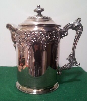 Antique Victorian Aesthetics Forbes Silver Co Quadruple Silverplate Coffee Pot