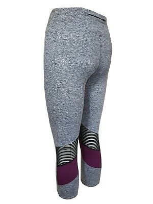 a9b2bb8db7f2d0 Ladies Ex Marks & Spencer Grey Purple Activewear Gym Leggings Joggers Ex M&S