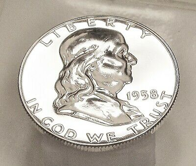 1958  Franklin   Choice  Proof   90%   Silver  >Coin  as  Pictured<  #403  5