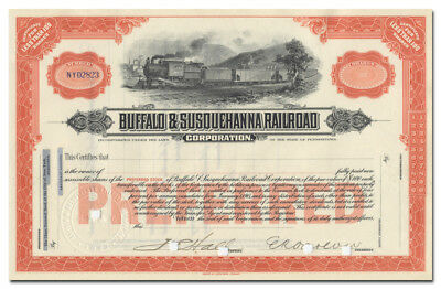 Buffalo and Susquehanna Railroad Corporation Stock Certificate