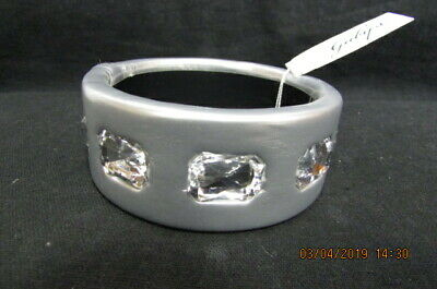 Chunky Silver Bracelet/Bangle With Rhinestones By Gaby's, Bnwt, Joblot Or Singly