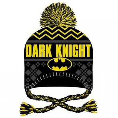pretty nice 927d9 b0dd8 Batman Dark Knight Laplander Beanie Hat Winter Warm Ugly Xmas Sweater DC  Comics