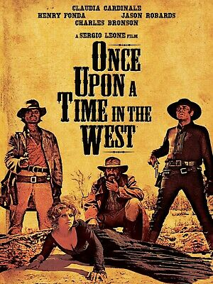 """Reproduction """"Once Upon a Time In The West"""" Movie Poster, Vintage Print, Western"""