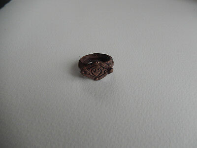 A bronze medieval love ring  size 7 1/2 betrothal wedding ring age of chivalry