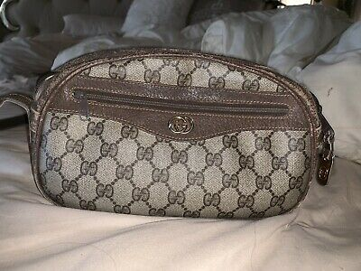 e07487ddcfc AUTHENTIC GUCCI GG Brown Monogram Canvas Classic Hobo Shoulder Bag ...