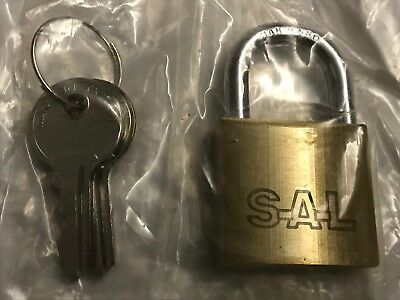 24 New Hardened Brass Padlocks With 2 Keys Keyed Different 30 MM