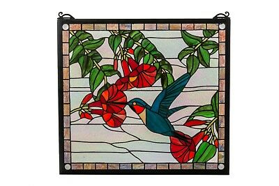 Stained Glass Hanging Panel, Hummingbird
