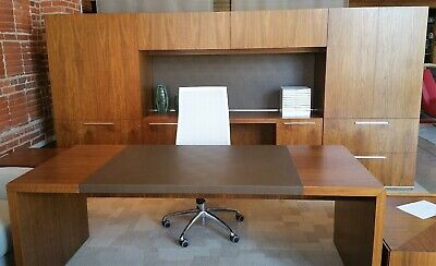 Halcon Mitre Office Suite with Side Tables Work Station Furniture