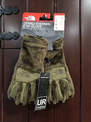 The North Face ETIP Women's Denali Thermal Gloves Size X-Small Burnt Olive Green