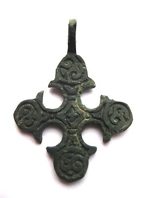 Ancient Vikings Bronze Cross Pendant  Kievan Rus
