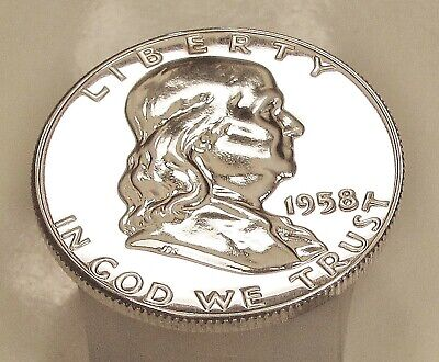 1958  Franklin   Choice  Proof   90%   Silver  >Coin  as  Pictured<  #403  16