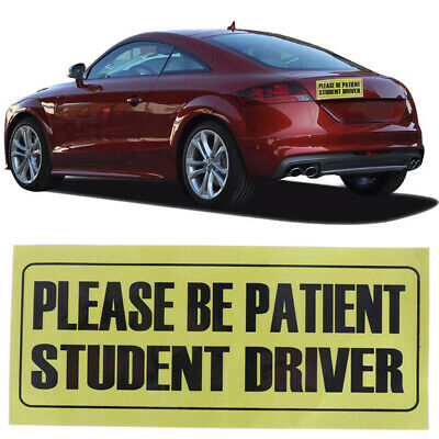 Please be patient student driver car sticker decal warning new driver 10x23cm EL