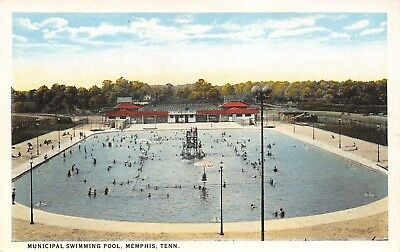 MEMPHIS TENNESSEE~DIVING PLATFORM in the Middle of the City Swimming  Pool~1920s