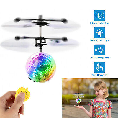 Electric Flying Ball Infrared Induction Aircraft LED Flash Light Kids Remote Toy