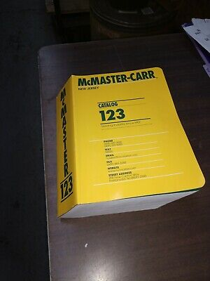 McMaster-Carr Catalog 123 New Jersey Edition Gently used