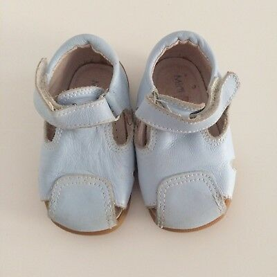 Baby Boys MINI BABY ZARA Light Blue Leather Sandals Size 18