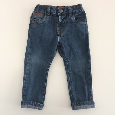 Baby Boys Toddlers NEXT Blue Denim Jeans Size 12-18 Months
