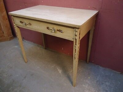 Antique French Louis Xvi Design Painted Writing Side Table
