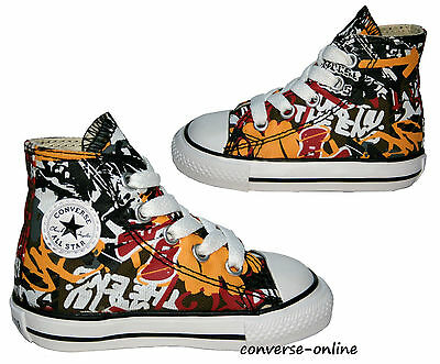 a928e98ac32c9 Baby Toddlers Boys CONVERSE All Star GRAFFITI HI TOP Trainers Boots 19 SIZE  UK 3