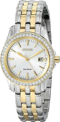 Citizen Eco-Drive Women's Silhouette Crystal Silver Dial Watch # EW1908-59A