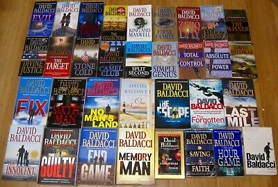 DAVID BALDACCI 33 PB Lot 6 COMPLETE SERIES Puller Camel Robbie THE FIX, END GAME