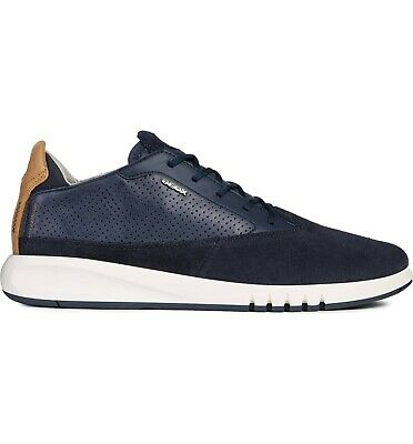 GEOX UOMO SNAKE Leather Synthetic Sneaker Breathable Comfort
