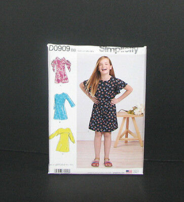 ba9ae26593f SIMPLICITY GIRLS  GIRLS  PLUS dress with back variations - Sewing ...