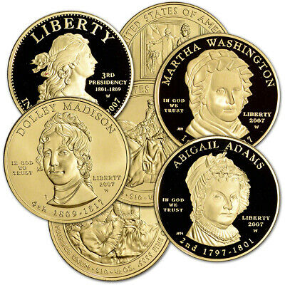 US First Spouse Gold 1/2 oz $10 - Random Date in Plastic Capsule