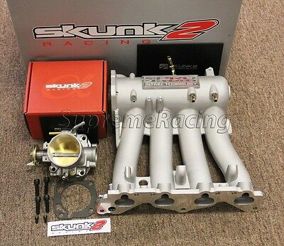 Skunk2 Pro Series Intake Manifold + 66mm Throttle Body for 88-91 Honda Civic EF
