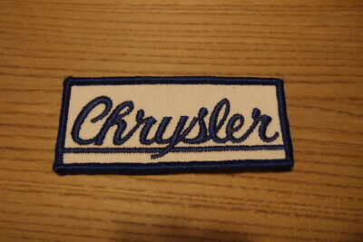 Aufnäher Back Patch Logo Weste Kutte Original Vintage 80s Chrysler US Car Treffe