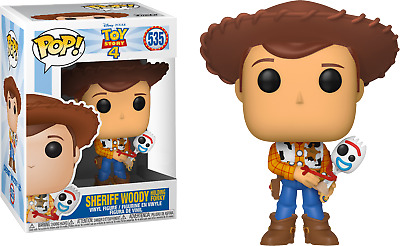 Funko Pop! Toy Story 4 - Sheriff Woody holding Forky #535 Exclusive