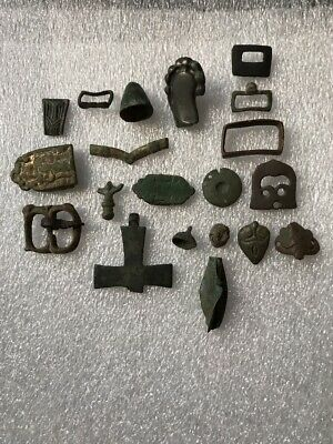 Lot of Roman Artifacts, Buckles,Bells,Mounts, Good Condition