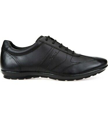 GEOX U SYMBOL Men's Smooth Leather Casual Euro Sneaker Shoes