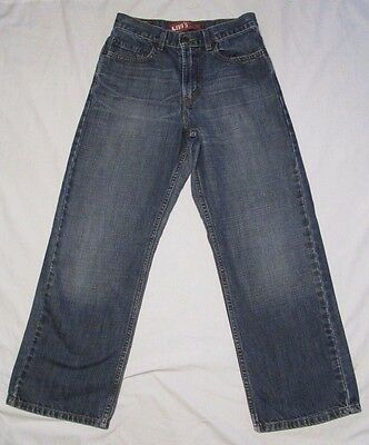 LEVIS 569 BOYS MENS Jeans Sz 14 27x27 LOOSE STRAIGHT BLUE DENIM Cotton
