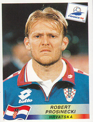 Panini - FIFA World Cup France 1998 - Robert Prosinecki - Croatia - # 544