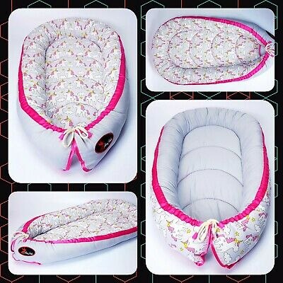 Baby nest pod cocoon cushion bed reversible BIGGEST CHOICE HIGH QUALITY IN UK