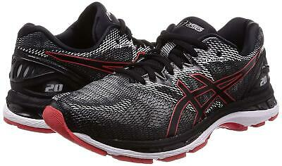 Asics M, D Black//Red Alert  Medium Men Gel Nimbus 20 Running Sneakers