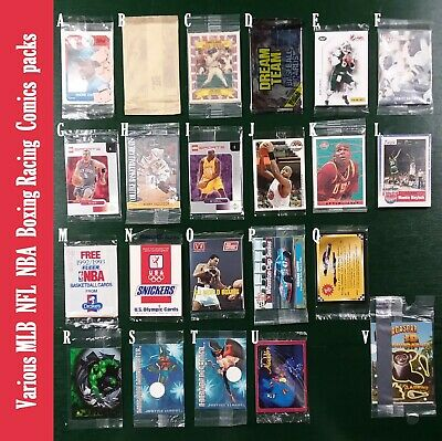 Various MLB NFL NBA Boxing Racing Comics SEALED Packs