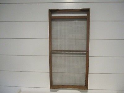 Antique dovetailed wood & wire. Architectural primitive decor.Nice pc. Large