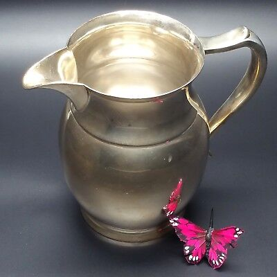 Wallace Pitcher Heavy Silver Plate vintage V1000 E.P.W.M. collectible silverware