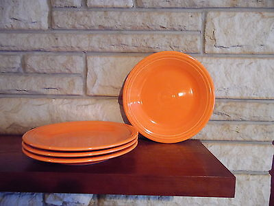 Fiesta 10.5 Dinner Plates poppy set of 4 NEW  Fiestaware