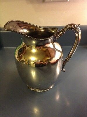 Marked Hartford Sterling Co. Quadruple Silver Plate Pitcher, Antique