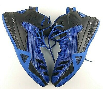 581a917b9793 Adidas Men s Size 13 Dt Bball Mid Ankle-High Fabric Basketball Shoes Blue  Clean