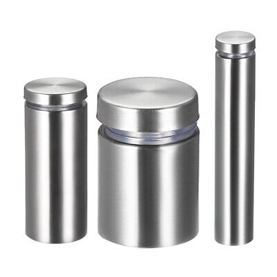 Glass Standoff Mount, Stainless Steel Wall Standoff Holder Advertising Nail 6pcs