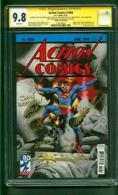 Superman Action Comics 1000 CGC SS 6X Signed 9.8 Steve Rude 1930's Variant